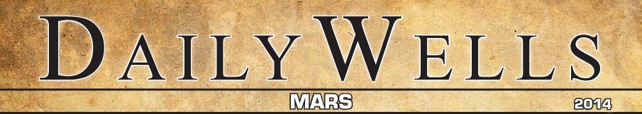 Daily Wells MARS 2014