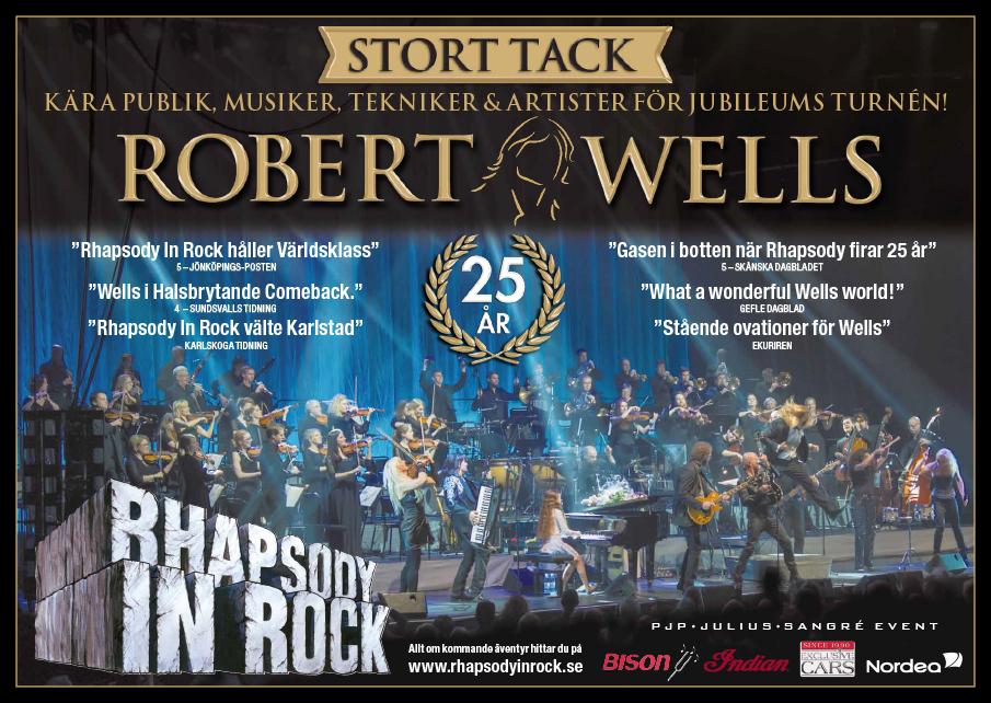 Stort TACK kära publik, musiker, tekniker & artister för jubileumsturnén!